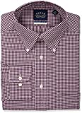 Eagle Mens Non Iron Regular Fit Check Buttondown Collar Dress Shirt