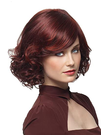 Amazon Com Vintage Short Deluxe Sexy Curly Highlight Blonde Bob