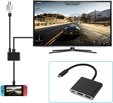 XCSOURCE para Nintendo Switch Mini HDMI Adaptador Video Converter Type-C USB 3.0 Charging Dock Charger para Nintendo Switch/Samsung S8 / MacBook AC911: Amazon.es: Electrónica