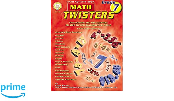 Amazon Math Twisters Grade 7 Challenging And Fun Activities