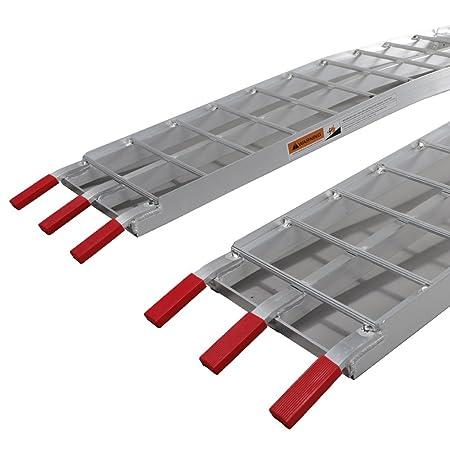 Pair 7.5ft Heavy Duty Aluminum Foldable Loading Motorcycle Arched ATV UTV Ramps