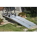 GHP Aluminum Alloy 600lbs Capacity 10' Mobility Wheelchair Threshold Ramp