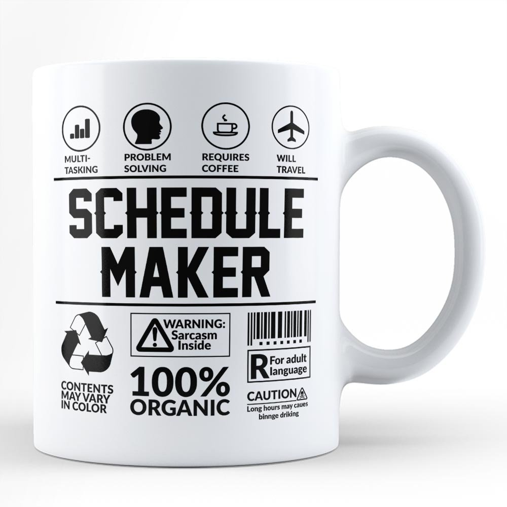 amazon com funny sarcasm mug for best schedule maker gift for self