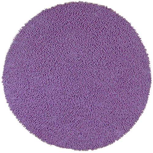 Shagadelic Chenille Twist Round Rug, 3 by 3-Feet, Purple (Target Area Purple Rugs)