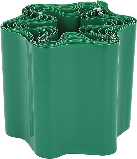 com-four® Ribete de césped de plástico - Borde de la Cama para césped, Macizo de Flores o como Borde de Corte - Longitud Personalizable: Amazon.es: Jardín