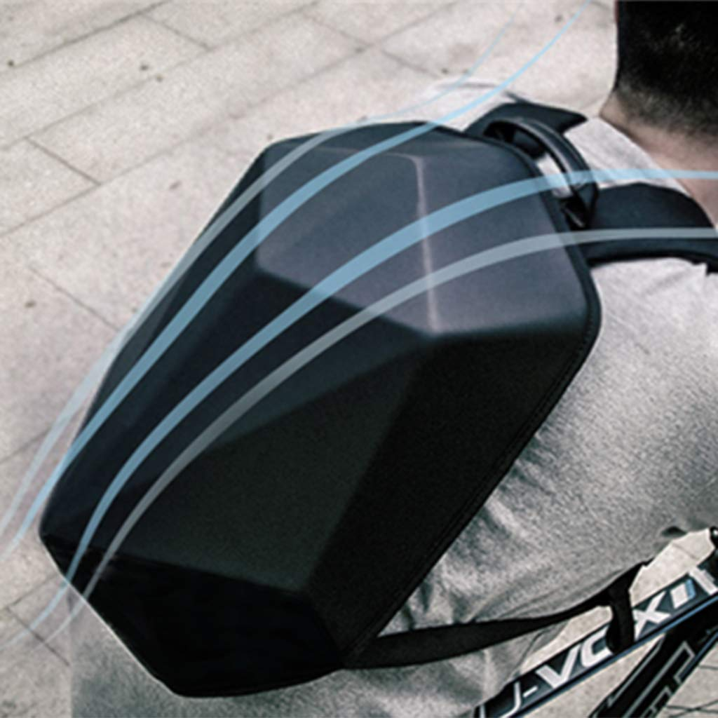 Motorbike Helmet Storage Bag H HILABEE Motorcycle Backpack Waterproof Hard Shell Carbon Fiber Riding Laptop Bag for Travelling Camping Cycling