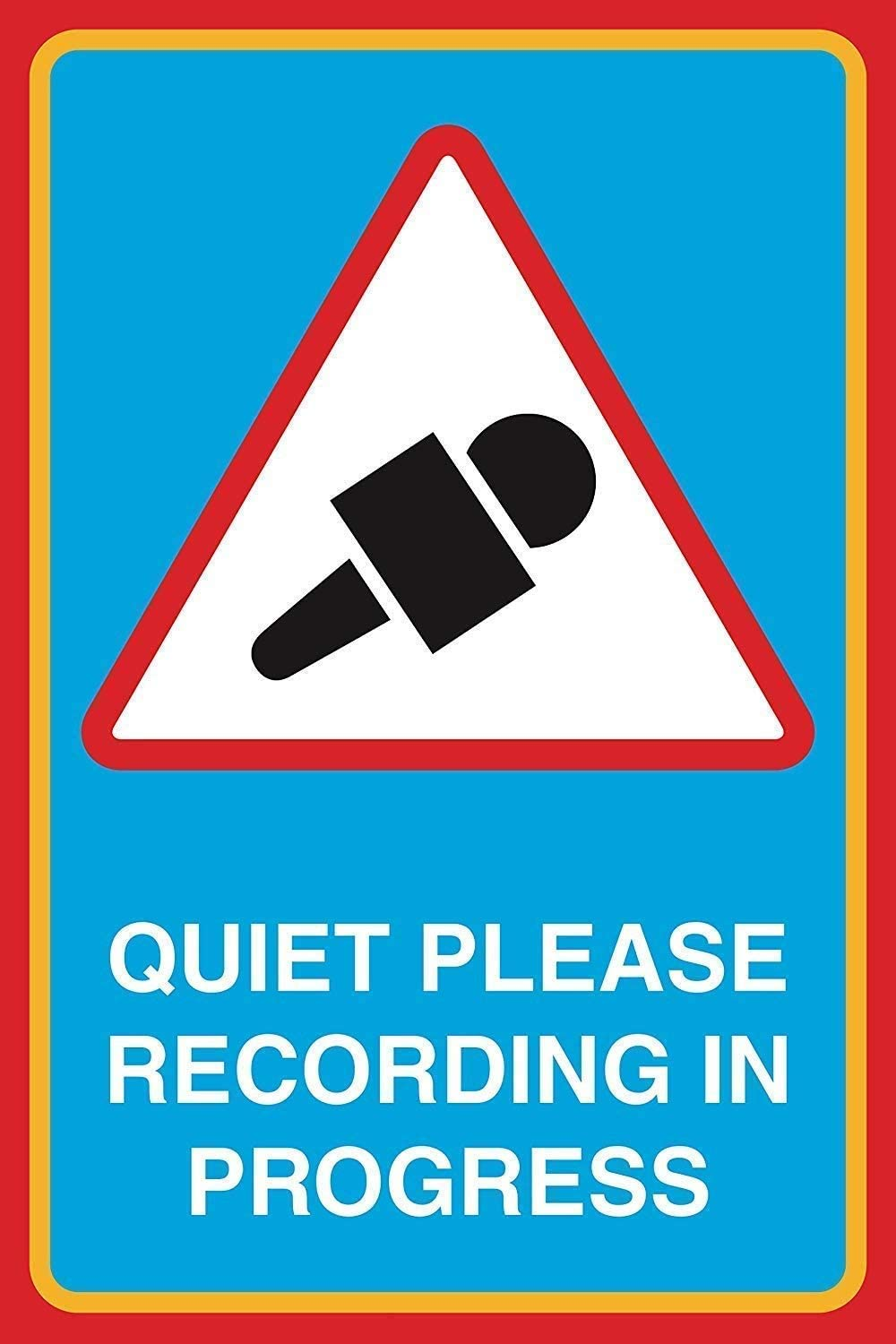 Henson Quiet Please Recording In Progress Nostalgic Art Beautiful Traditional Tin Sign Metal Painted Modern Wall Decoration Art Poster Game Room House Rules Street Sign