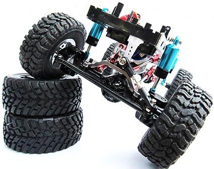 BeesClover - Amortiguador de metal completo para WPL C14 C24 Escalada todoterreno, modelo de coche