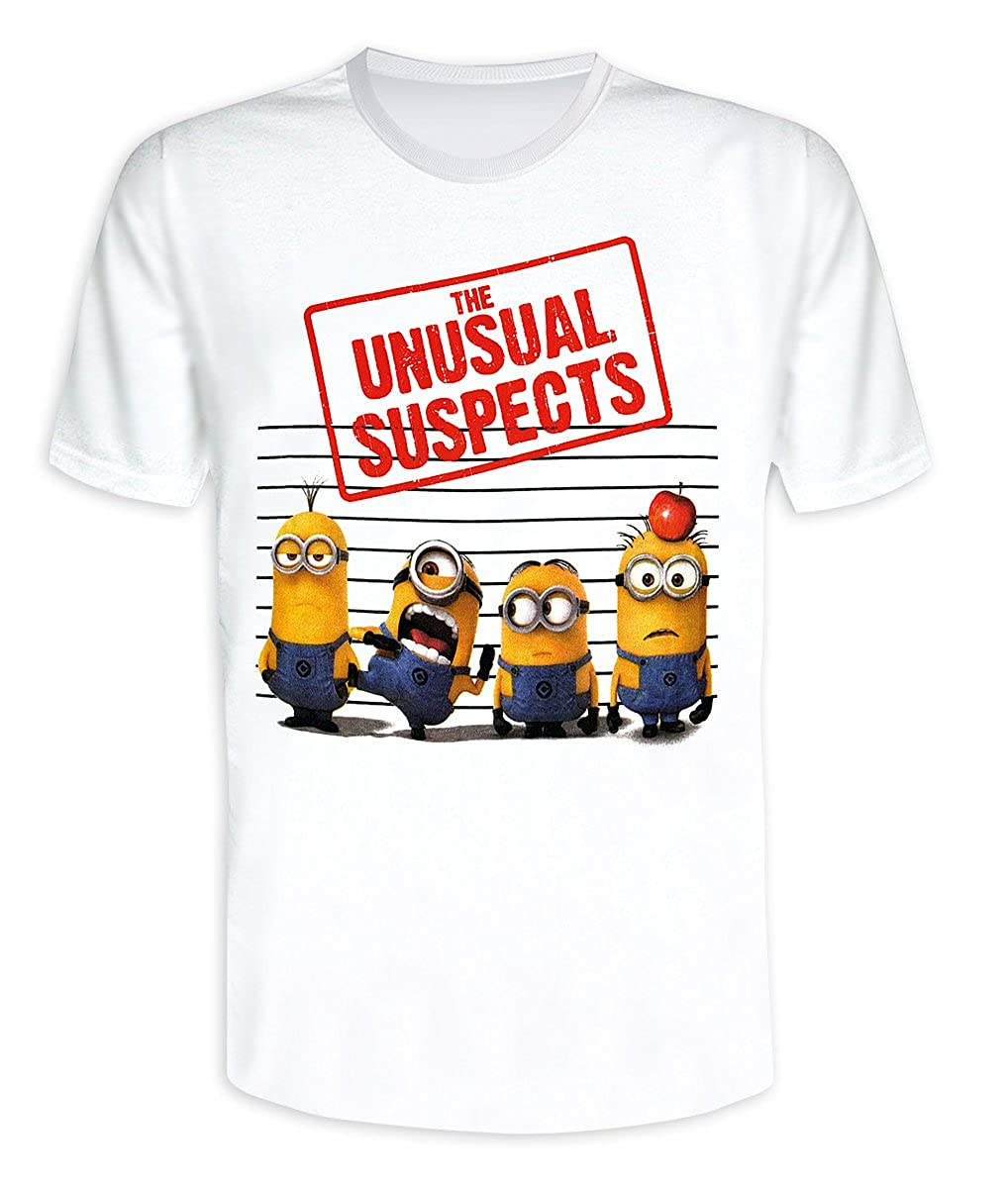 2b40a6bf0 Amazon.com: Despicable Me 2, T-Shirt The Unusual Suspects (Minions) (S):  Clothing