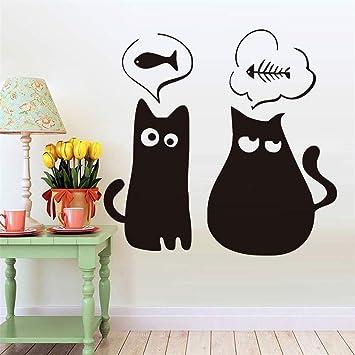 pegatina de pared pegatinas decorativas pared Lindos dos gatos ...