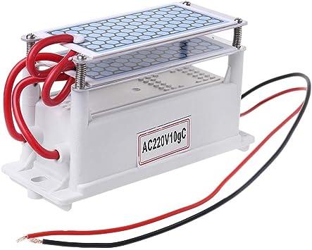 Ycncixwd 220 V 10 g/h placa de cerámica generador de ozono doble integrado esterilizador de ozono filtro de agua de ...