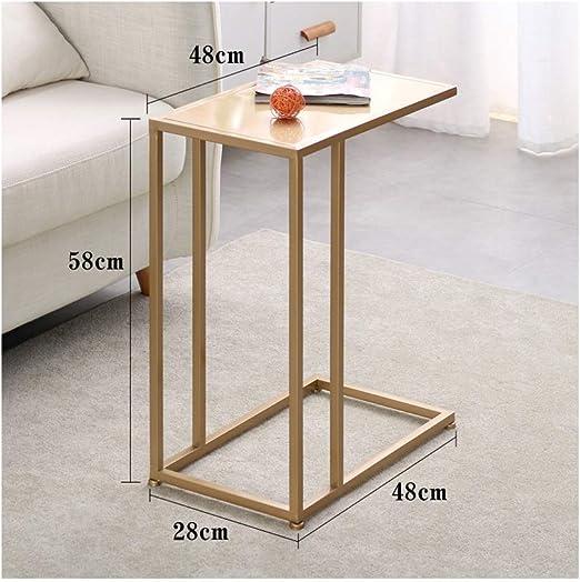 Metal pequeña Mesa de Centro Simple Mini mesas Laterales Estilo ...