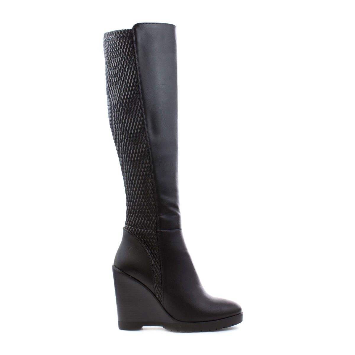 5a455a63add Lilley Womens Black Elasticated Back Wedge Boot - Size 8 UK - Black   Amazon.co.uk  Shoes   Bags