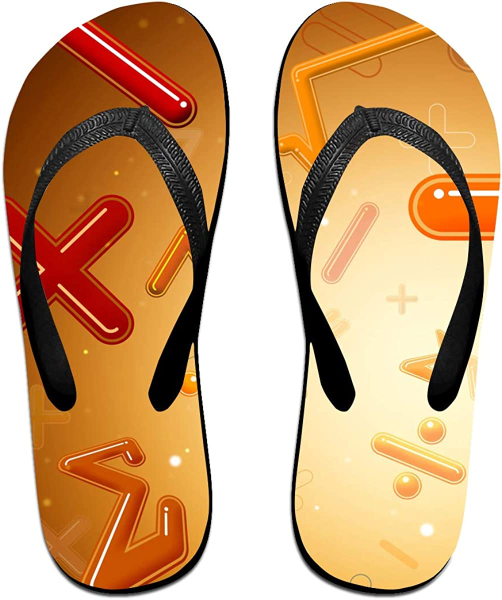 Math Mens and Womens Light Weight Shock Proof Summer Beach Slippers Flip Flops Sandals