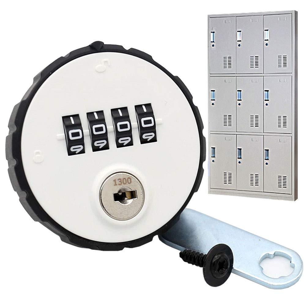 MIONI Armario de combinació n Cam Lock 4 dí gitos sin llave para cajó n de la puerta Armario de la escuela de gimnasio con clave Reset