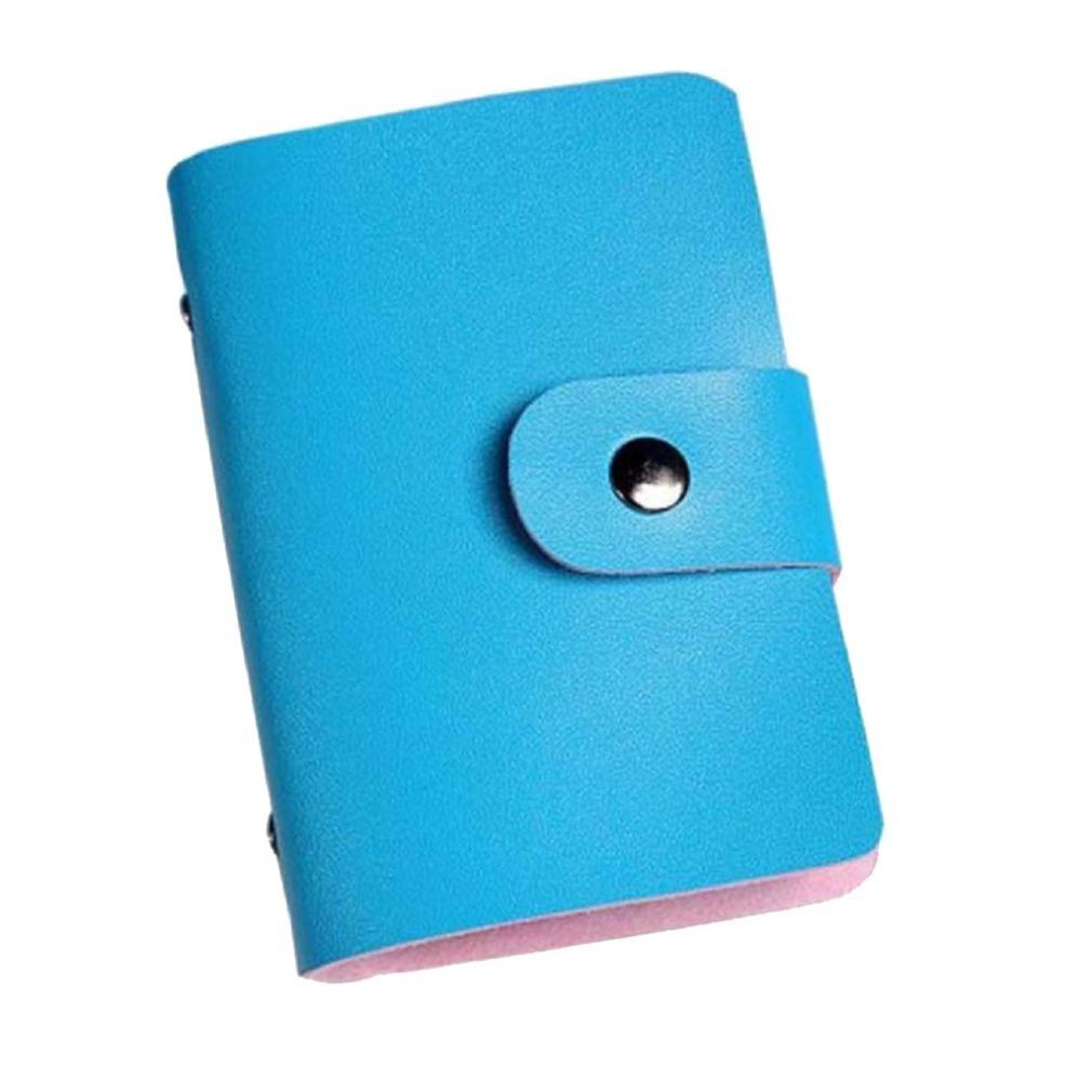 Baonoop Hommes Femmes Porte-cartes de crédit en cuir carte de titulaire cas Wallet Business Card (Bleu ciel) Baonoop2039