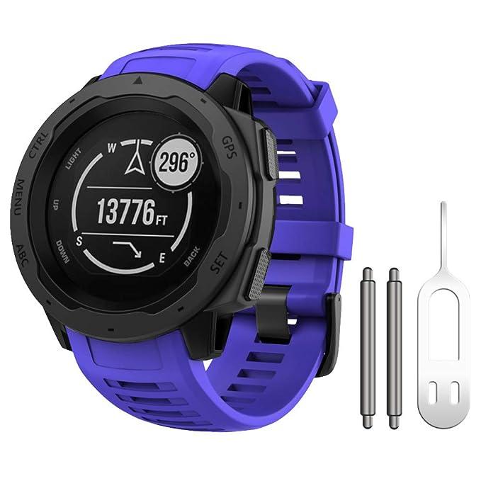 ANCOOL Compatible para Garmin Instinct Watch Band Soft Silicona ...