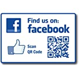 Amazoncom Find Us On Facebook Decal Find Us On Facebook - Facebook window stickers for business uk