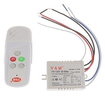MonkeyJack 1/2/3 Way Lamp Light Wireless Remote Control Switch ...
