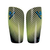 Genetic Los Angeles 1 Pair Leg Support Leg Protector Pads for Football Training Shin Board Soccer Leg Warmers Adults and Child Sports Safety (Green, XS)