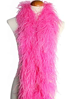 Candy Pink 3ply Ostrich Feather Boa Scarf Prom Halloween Costumes Dance Decor