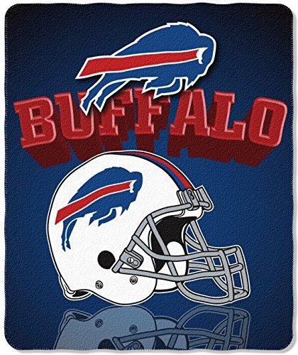 - NFL Buffalo Bills Gridiron Fleece Throw, 50-inches x 60-inches