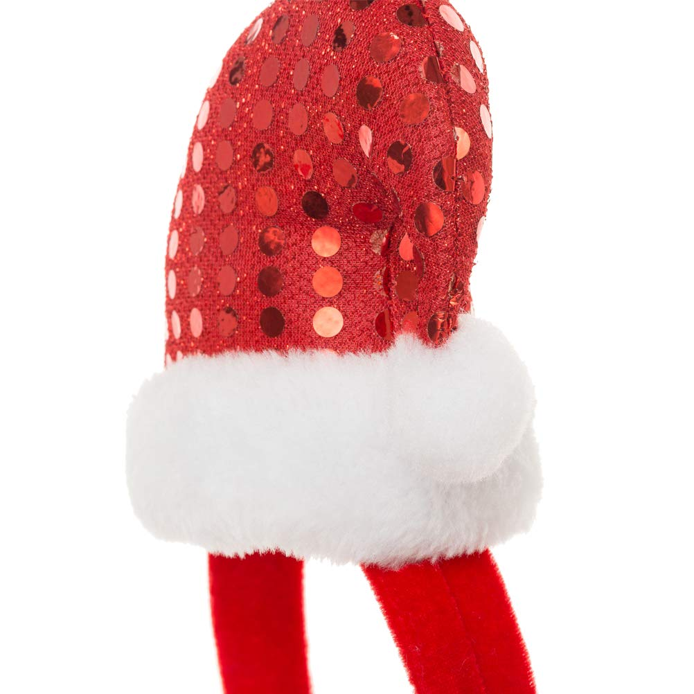 OFPUPPY Christmas Dog Headband Santa Claus Hat Style and Bell Collar Pet Costume for Pets Doggies
