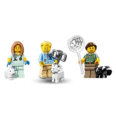 LEGO Animal Figures Veterinarian, Dog Show Winner, and Animal Control Minifigures: Toys & Games