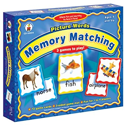 Picture Words: Memory Matching: Carson-Dellosa Publishing: Toys & Games