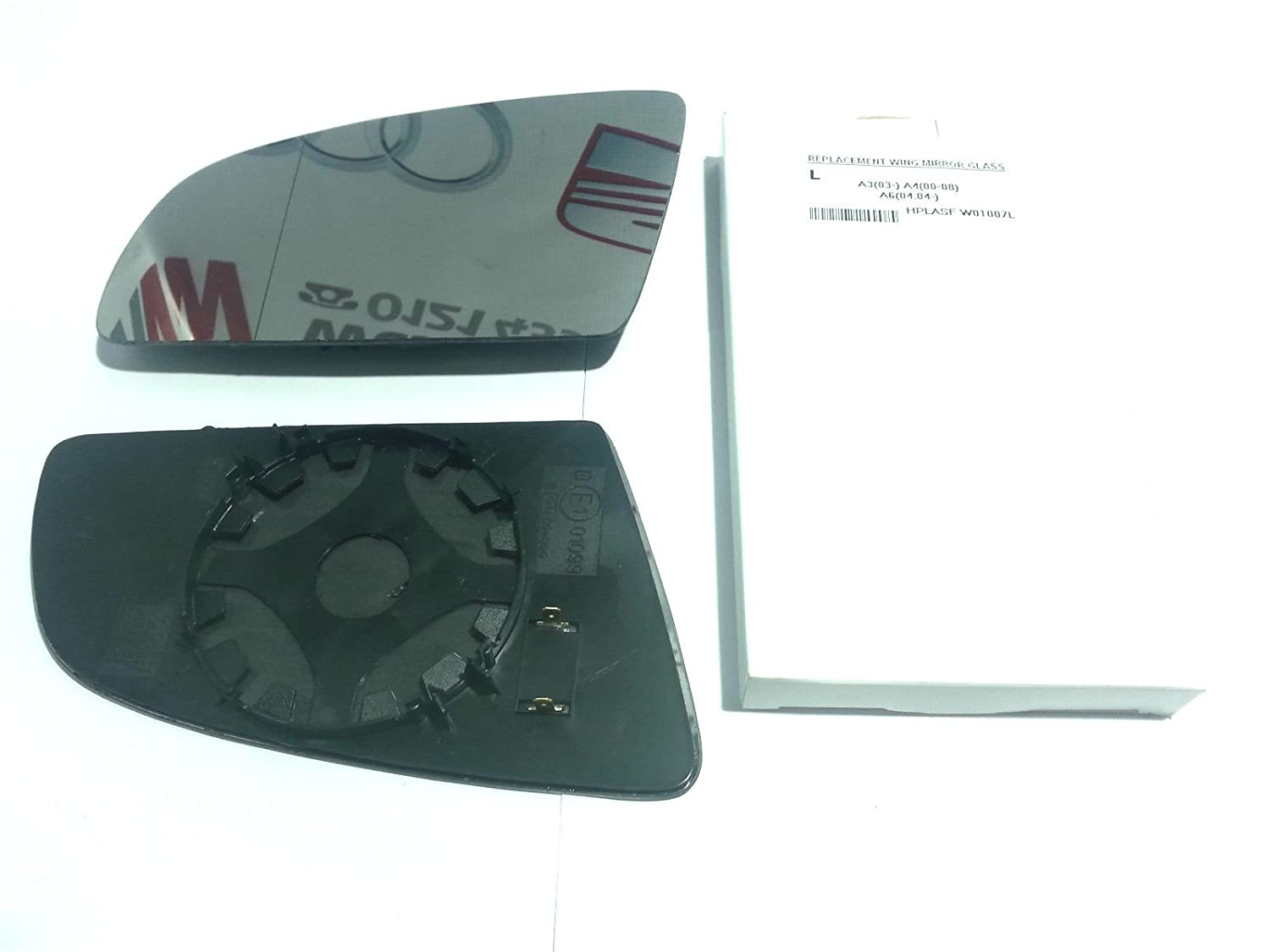 Left Passenger side wing mirror glass for Audi A3 2003-2008 Heated