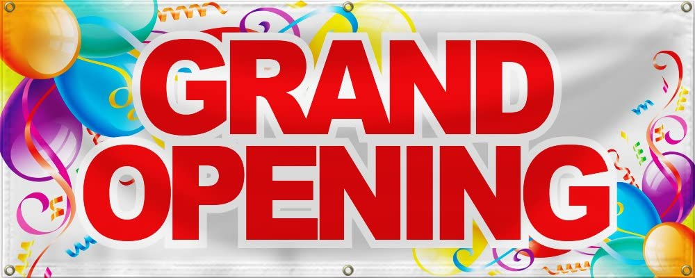 Best Deal Depot Grand Opening Banner Sign Store Signs Flag 2 X5 Color Bar And Balloon Amazon Co Uk Office Products