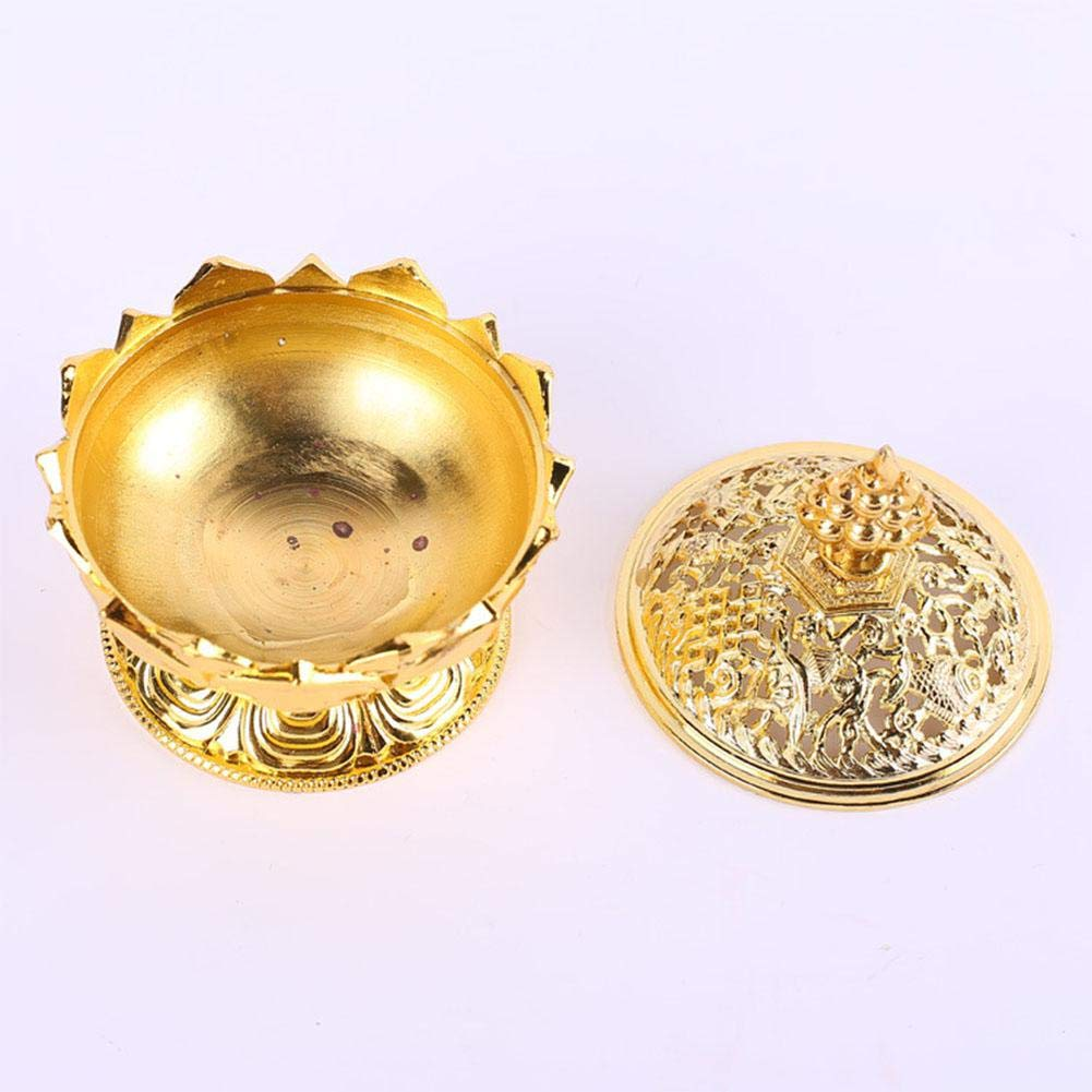 Pretty Alloy Lotus Incense Burner Exquisite Censer Home Office Hotel Decoration Gift Category-B