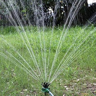 IronBuddy Hose Sprinkler Head Lawn Garden Irrigation System Water Sprinkler, Noodle Shape 12 Hose Head 360° Adjustable Nozzle Sprinkler for Outdoor Yard