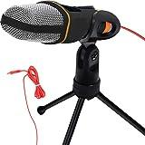 SEASKY Micrófono Condensador Semiprofesional con Tripié, Micrófono Condensador,Microfono con Soporte para PC,Ideal para Video