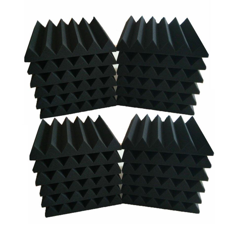 Amazon.com: Paquete de 24 paneles de espuma acústica de 2 x ...
