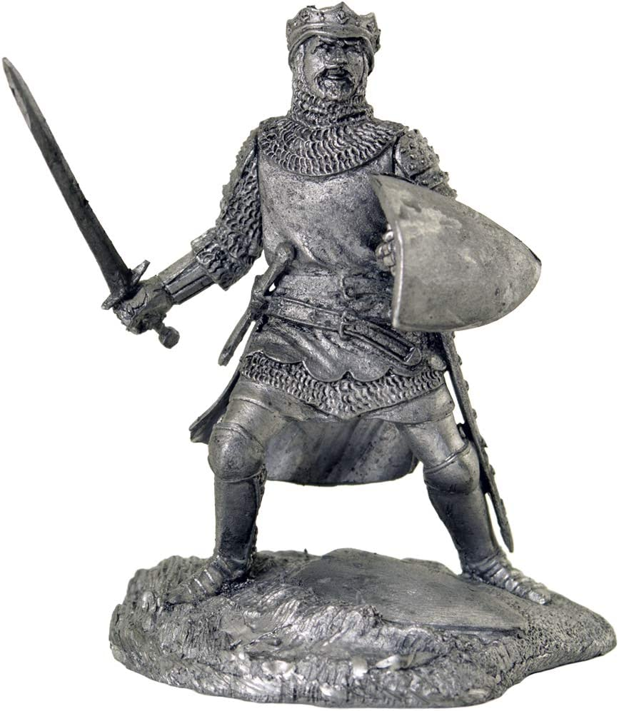 Tin Toy Soldier Assembled Unpainted Crusades Set 54mm 1//32 miniature