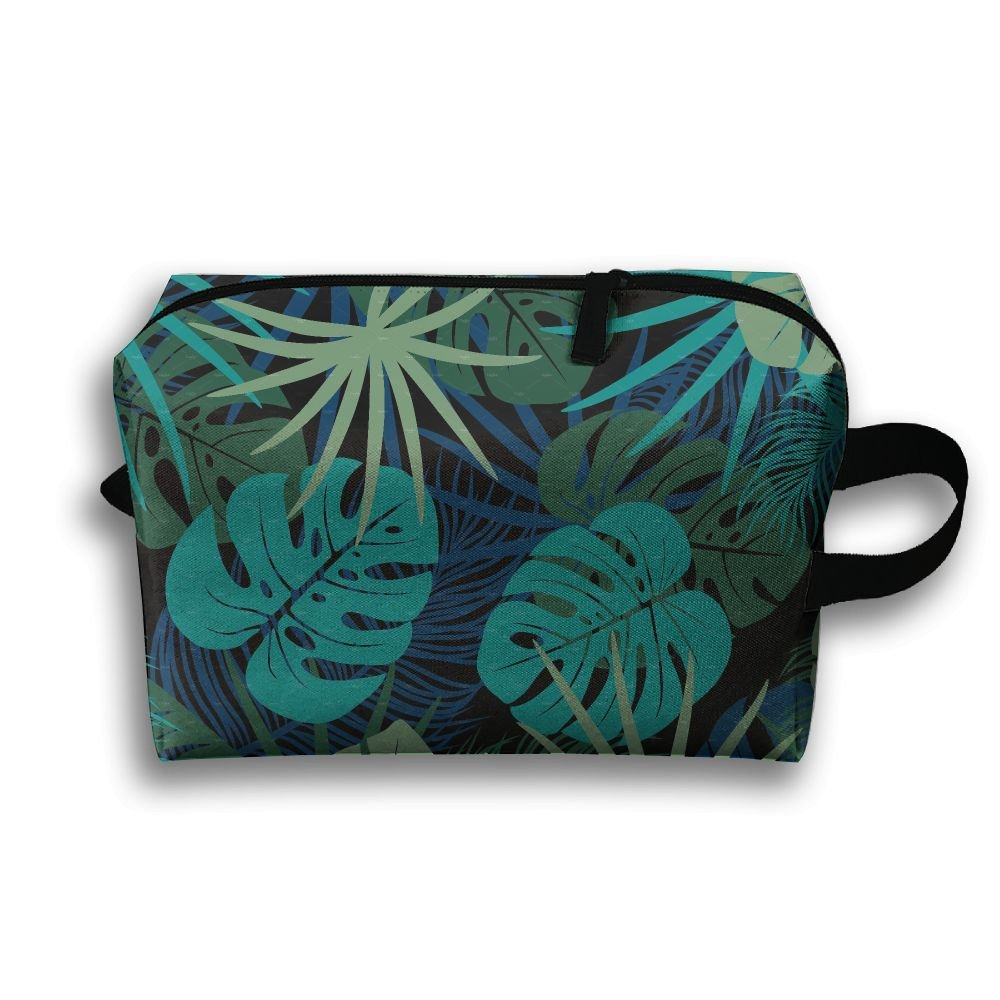 Summer Tropical Palm Leaves Small Travel Toiletry Bag Super Light Toiletry Organizer For Overnight Trip Bag