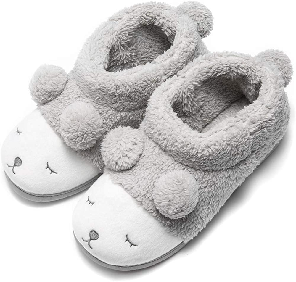 GaraTia Warm Indoor Slippers for Women Fleece Plush Bedroom Winter Boots