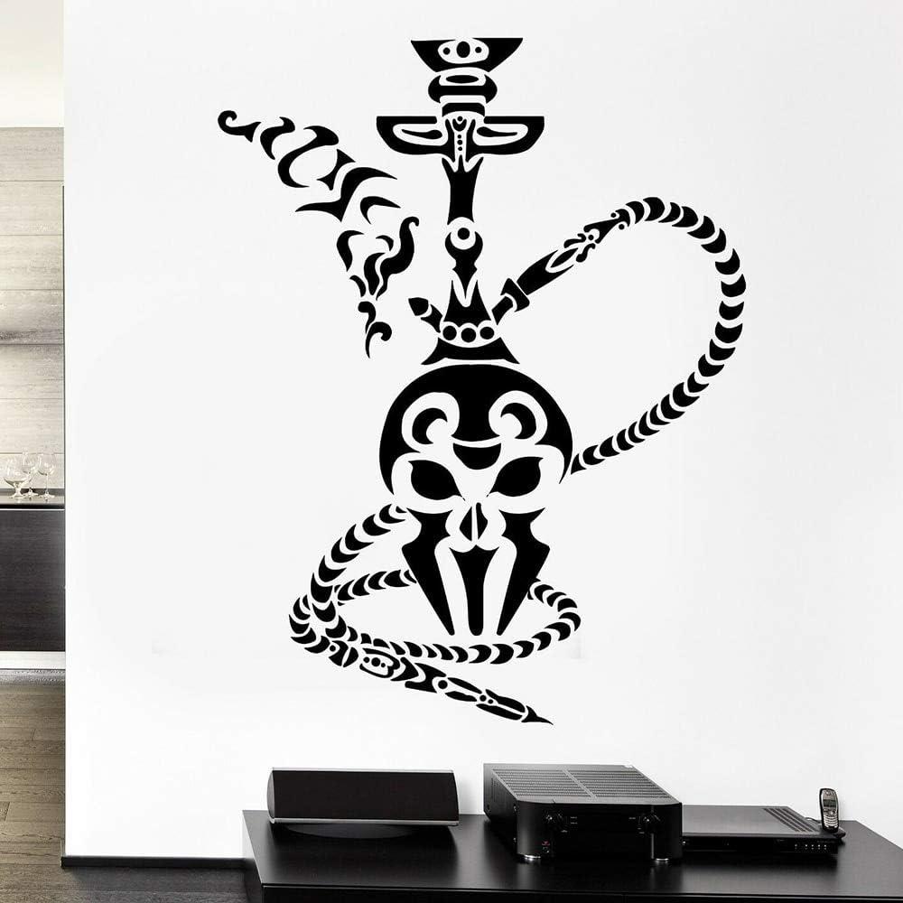 Etiqueta de la pared de la cachimba Etiqueta de la pared árabe ahumada Tienda de tabaco Vinilo Hogar Accesorios de decoración de la sala de estar