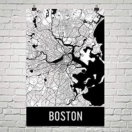 Amazon Com Boston Poster Boston Art Print Boston Wall Art Boston