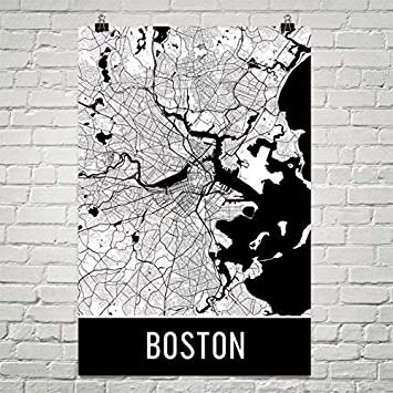 Amazon.com: Boston Poster, Boston Art Print, Boston Wall Art ... on new england map, mass map, philly map, michigan map, fenway park map, texas map, charles town map, lexington map, america map, u.s. state map, united states map, ma map, phoenix map, mississippi map, massachusetts map, freedom trail map, pennsylvania map, ny map, usa map, cambridge map,
