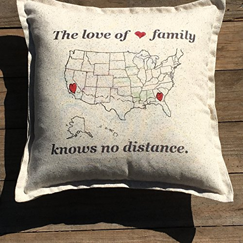 Long Distance Family Pillow