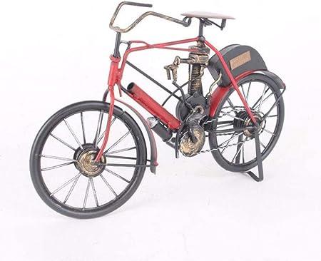 HZY Bici Vieja artesanales de Metal Viejo Modelo de Bicicletas Retro Modelo Antiguo Club de Bicicletas estatuilla Ornamento del Ministerio del Interior Decoración, Rojo, Color: Rojo (Color : Red): Amazon.es: Hogar