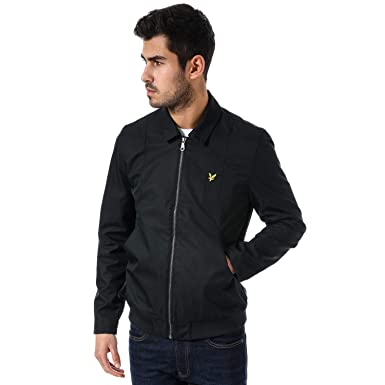 73b65d2d0 Mens Lyle and Scott Collared Bomber Jacket in Black- Zip Fastening ...
