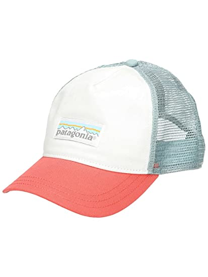 28805e9896c Patagonia Hats Pastel P-6 Label Layback Trucker Cap - Black-Coral ...