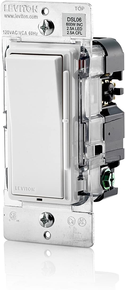Leviton Dsl06-1lz Decora Universal Dimmer 300w LED and Cfl//600w Incandescent for sale online