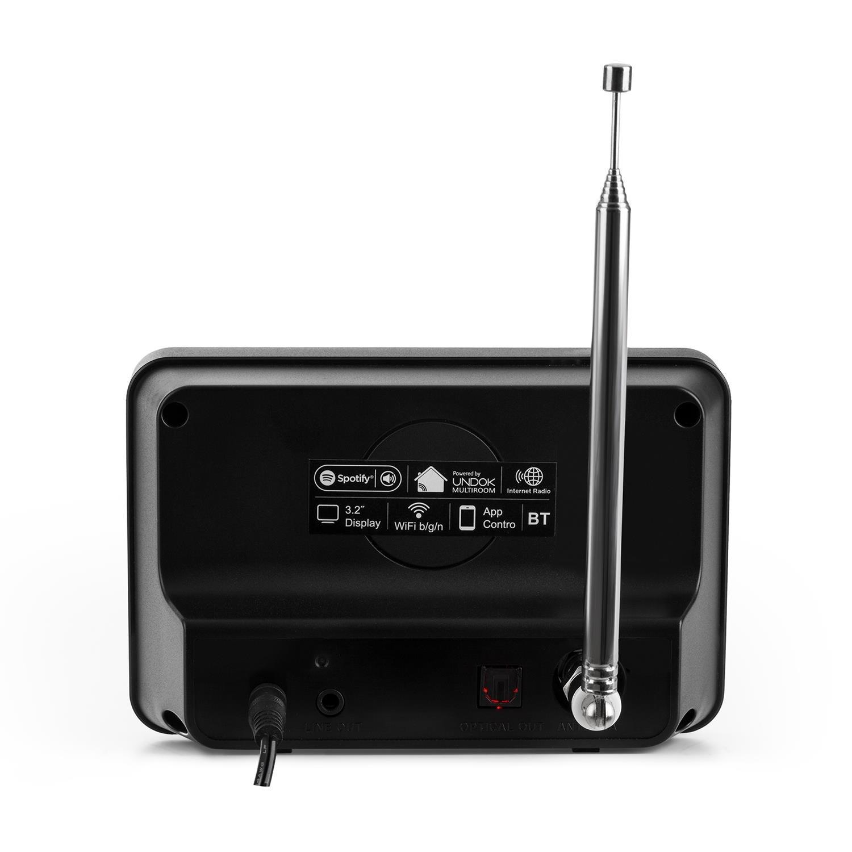 auna iAdapt 320 • Adaptador de Radio por Internet • para la conexión a un Equipo estéreo o Altavoces Activos • Control Mediante aplicación • Spotify • WiFi ...