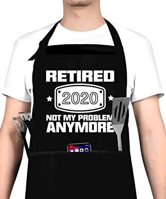 Amazon.com: 2020 Retirement Gift Apron for Men and Women, Funny