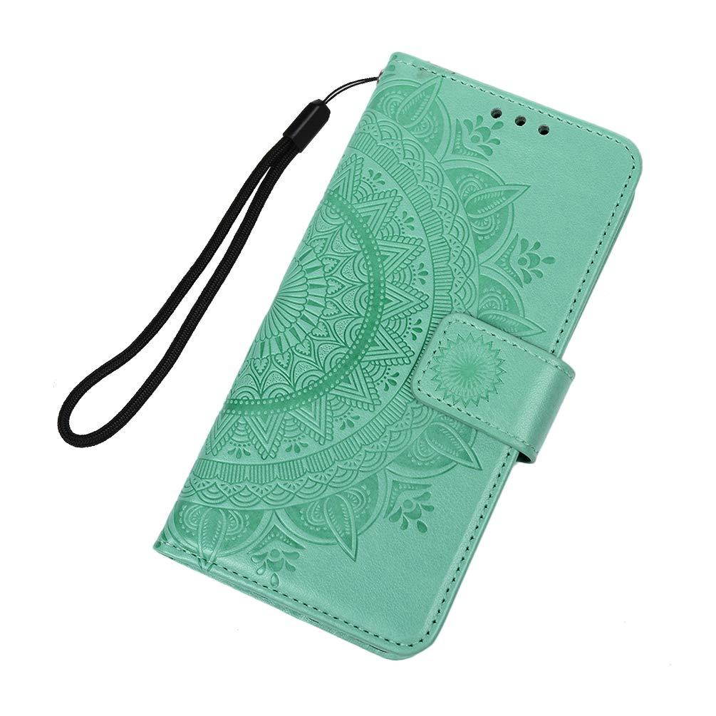 Huawei P30 Pro Handyh/ülle P30 Pro H/ülle Case PU Leder Tasche Mandala Muster Flipcase Cover Silikon Schutzh/ülle Handytasche Skin St/änder Klapph/ülle Schale Bumper Magnet Ledertasche Lokales Gold