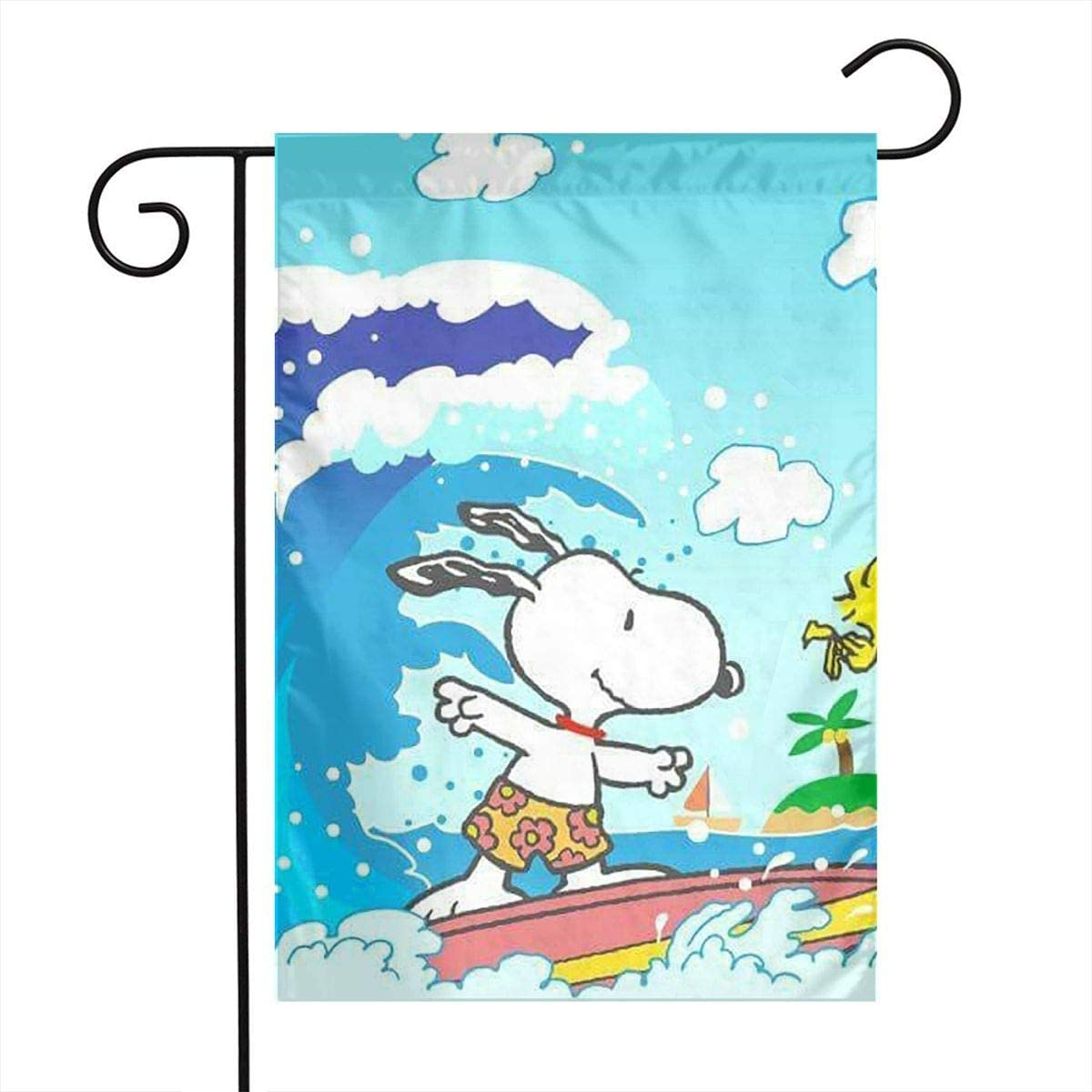 LIUYAN Garden Flag - Snoopy Surf Unique Decorative Outdoor Yard Flags for Your Home 12 X 18 Inches